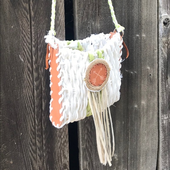 One of a kind repurposed baling twine bag Boutique